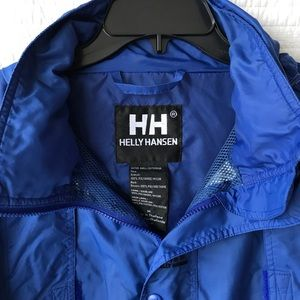 Helly Hansen Lightweight Waterproof Blue Coat -Med